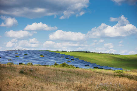 Solar energy panels in countryside Stock Photo - 21572854