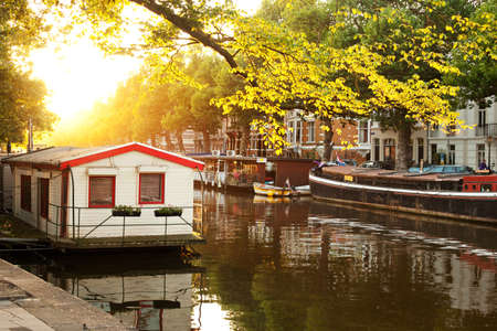 Amsterdam vue sur la ville Les Pays-Bas Banque d'images - 25567279