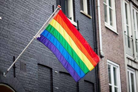 gay love: Gay rainbow flag