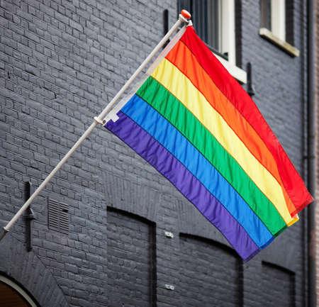 bandera gay: Bandera del arco iris gay
