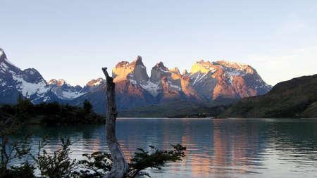 パタゴニアのトーレス ・ デル ・ パイネ国立公園 写真素材
