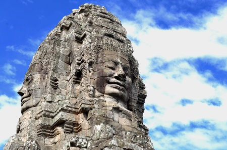 A fragment of Angkor Thom photo