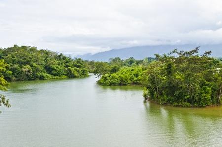 nam: A View of Nam Ngum, Vang Vieng Stock Photo