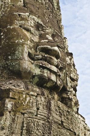 Buddha faces of Bayon in Angkor Wat, Cambodia photo
