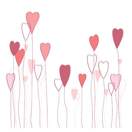 Stylish romantic hearts Stock Vector - 8610657