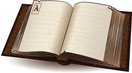 Oude Boek, vector illustratie, eps-10