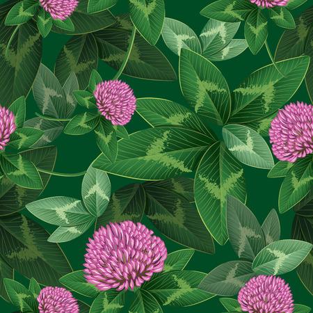 seamless clover: Clover seamless pattern illustration