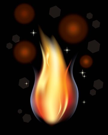 contain: A fire of candle, illustration, contain gradient mash Illustration