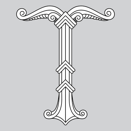 tyr: Irminsul, Yggdrasil. Sacred tree or the tree trunk Saxons, dedicated to the God Irmin, the main object of veneration to the Northern Germanic, isolated on white, vector illustration
