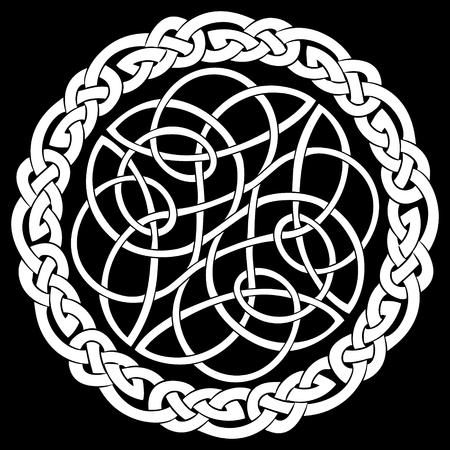 Patrón celta, antiguo patrón europeo, aislado en blanco, ilustración vectorial