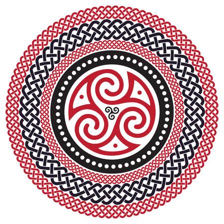 Celtic braided pattern, mandala, isolated on white, vector illustration Illustration