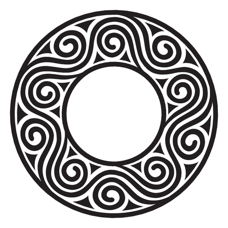earthenware: Ancient European pattern, Antique meander, isolated on white, vector illustration Illustration