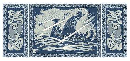 Diseño de Viking. Foto de archivo - 84921345