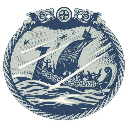 Viking ontwerp. Stock Illustratie