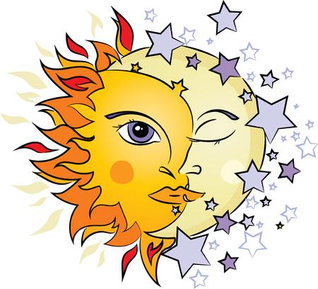 태양과 달 그림