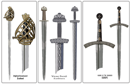 Ancient Europe weapon - set of swords.