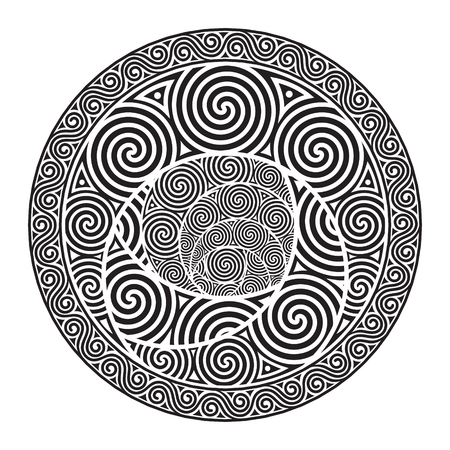 Celtic design - Spiral Celtic Sun Illustration