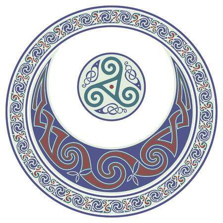 Round Celtic Design. Celtic mandala