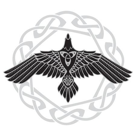 오딘의 까마귀, 노르웨이 사람의 켈트 풍 일러스트