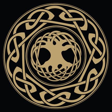 Yggdrasil - the World tree, tree of life in Norse mythology 일러스트
