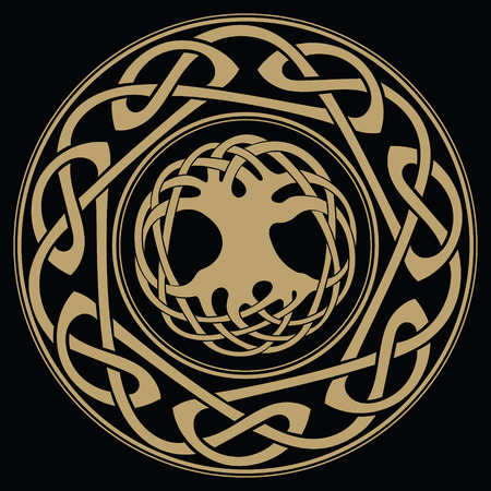Yggdrasil - the World tree, tree of life in Norse mythology Illustration