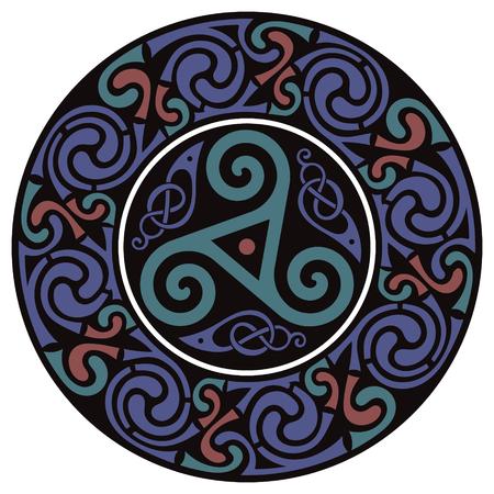 Diseño Celta Redondo. Mandala celta