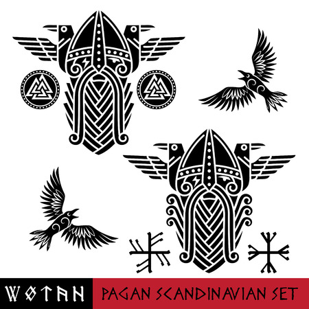Scandinavian pagan set Stock Vector - 93220387