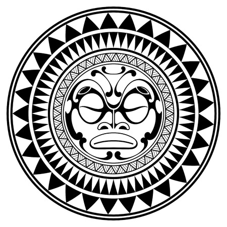 polynesian tattoo design mask frightening masks in the polynesian Native American Musical Instruments polynesian tattoo design mask frightening masks in the polynesian native ornament isolated on white