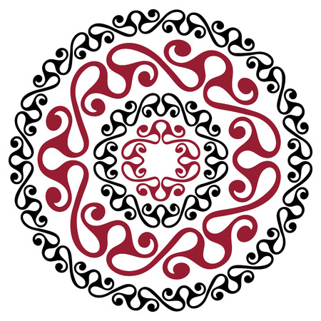 Polynesian tattoo design. Ancient Polynesian native ornament, isolated on white, vector illustration