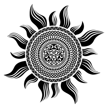 Polynesian tattoo design. Ancient Polynesian native ornament, isolated on white, vector illustration