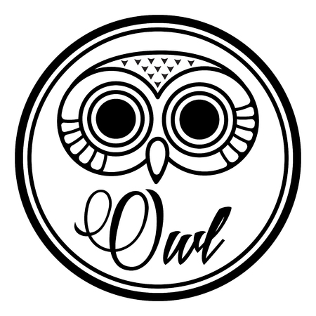 Round design with cute owl head