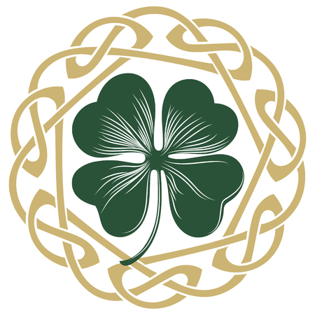 Four-leaf clover. Irish symbol for the feast of St. Patrick