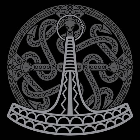 Ukonvasara - Ukko hammer or Ukonkirves - Ukko Axe, is the symbol and magical weapon of the Finnish Thunder God Ukko