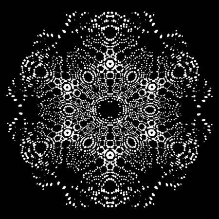Atomic lattice. Texture of molecules and atoms. Atom under the microscope