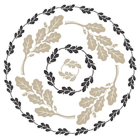 Oak leaf and acorn design. Oak leaf wreath