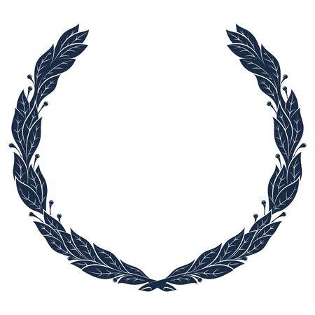 Laurel Wreath, vintage wreath. Greek laurel 向量圖像