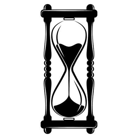 Hourglass, sandglass timer icon, vintage vector design