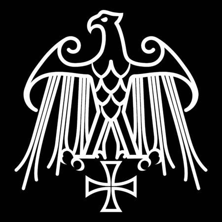 Geraldic eagle and iron cross