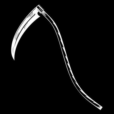 Hand-drawn scythe of the grim Reaper Vetores