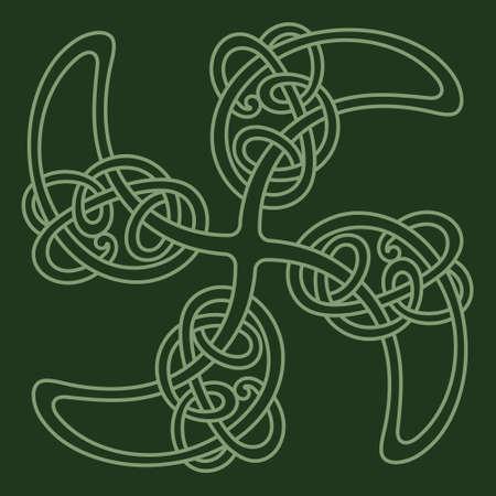 Ancient Celtic design. Celtic Scandinavian style sun cross. Solar - ancient symbol of the sun