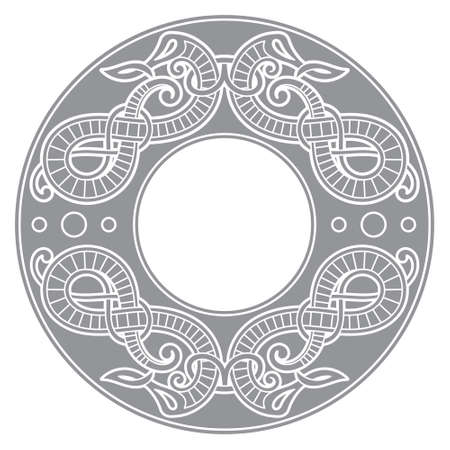 Old Norse design. Dragons in ancient Scandinavian style