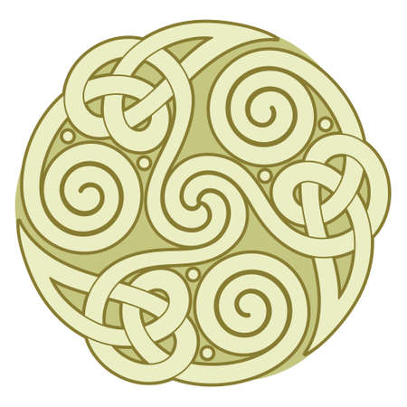 Ancient round Celtic, Scandinavian Design. Celtic knot, mandala