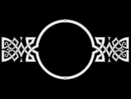 Celtic-Scandinavian design. Old Norse pattern, frame.