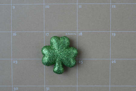 march 17th: Calendar Showing Saint Patricks Day for the year 2015 Stock Photo