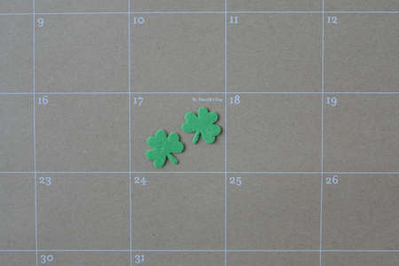 Calendar Showing Saint Patricks Day for the year 2015 photo