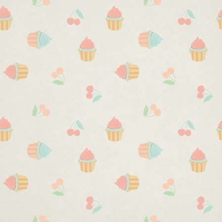 Seamless pattern with candies and sweets photo