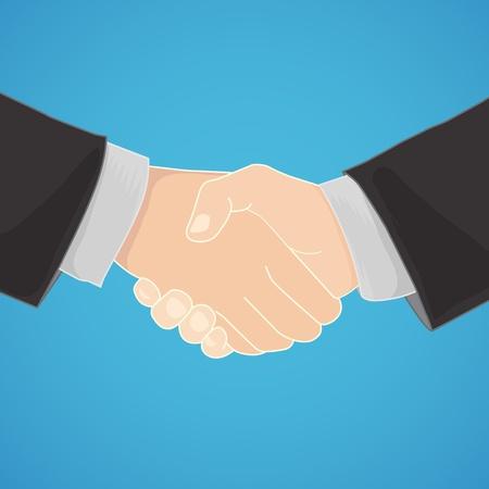 businesslike: handshake in a businesslike manner