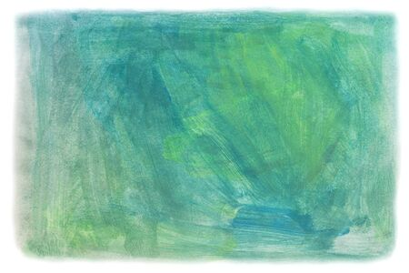 abstract blue and green Painting Texture with water color photo