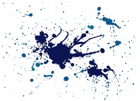 blue splash watercolor painting  photo
