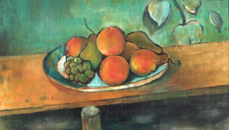 the art arcylic painting of fruit